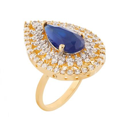 51763 CZ Classic Ring with 2 tone plating