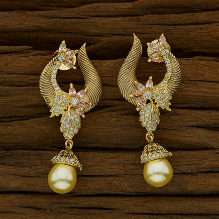 51785 CZ Short Earring with gold plating