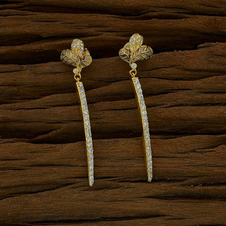 51787 CZ Short Earring with gold plating