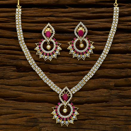 51888 CZ Classic Necklace with gold plating