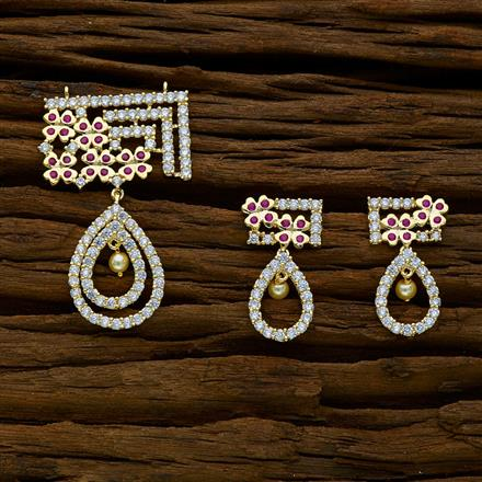 51894 CZ Classic Mangalsutra with gold plating