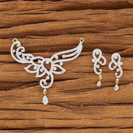 51895 CZ Classic Mangalsutra with 2 tone plating