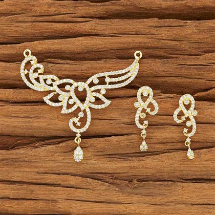51896 CZ Classic Mangalsutra with gold plating