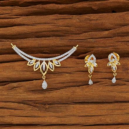 51909 CZ Classic Mangalsutra with 2 tone plating