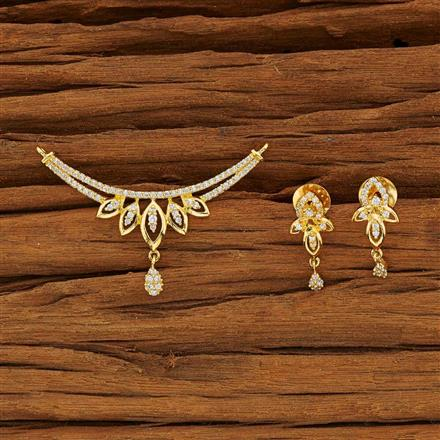 51910 CZ Classic Mangalsutra with gold plating