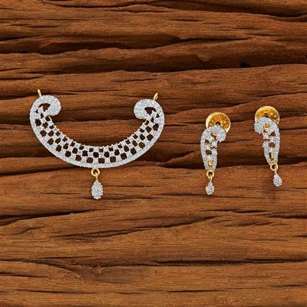 51917 CZ Classic Mangalsutra with 2 tone plating