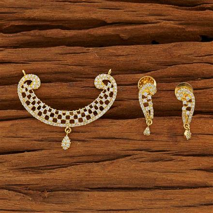 51918 CZ Classic Mangalsutra with gold plating
