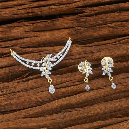 51933 CZ Classic Mangalsutra with 2 tone plating
