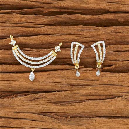 51937 CZ Classic Mangalsutra with 2 tone plating