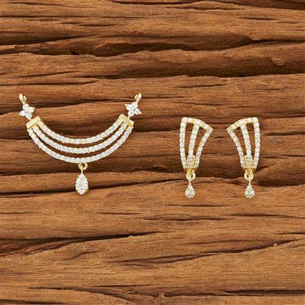51938 CZ Classic Mangalsutra with gold plating