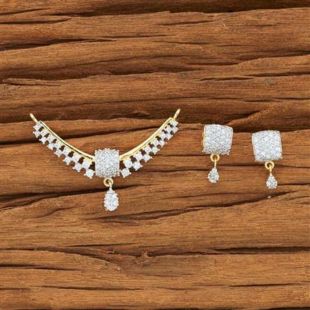 51943 CZ Classic Mangalsutra with 2 tone plating