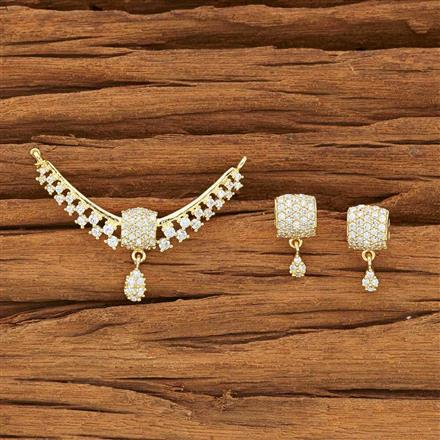 51944 CZ Classic Mangalsutra with gold plating