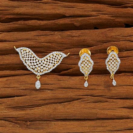 51948 CZ Classic Mangalsutra with 2 tone plating