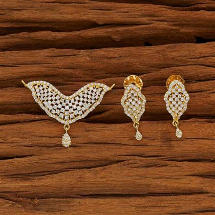 51949 CZ Classic Mangalsutra with gold plating