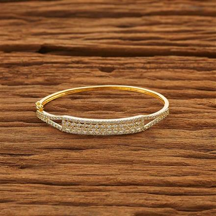 52026 CZ Delicate Kada with gold plating