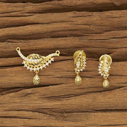 52072 CZ Classic Mangalsutra with gold plating