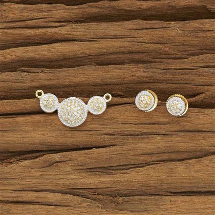 52128 CZ Delicate Mangalsutra with 2 tone plating