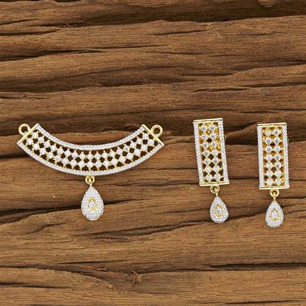 52132 CZ Delicate Mangalsutra with 2 tone plating