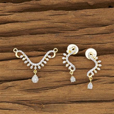 52133 CZ Delicate Mangalsutra with 2 tone plating