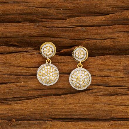 52138 CZ Delicate Earring with 2 tone plating