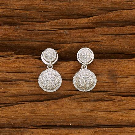 52139 CZ Delicate Earring with rhodium plating