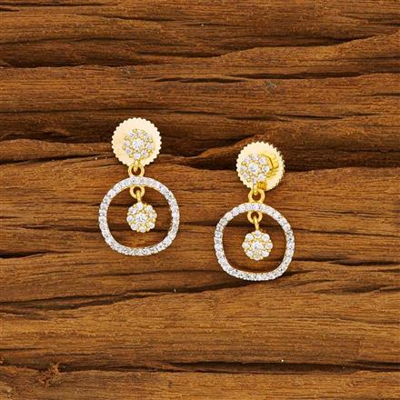 52144 CZ Delicate Earring with 2 tone plating