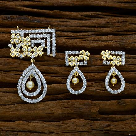 52157 CZ Classic Mangalsutra with 2 tone plating