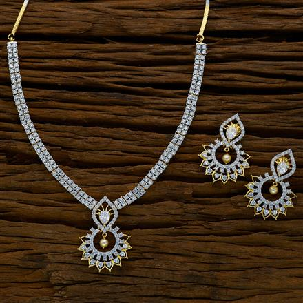 52158 CZ Classic Necklace with 2 tone plating