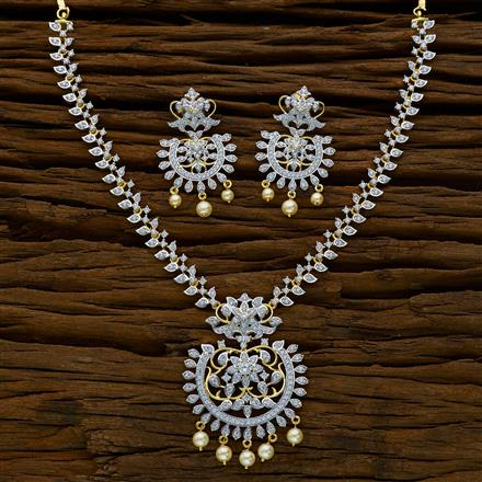 52159 CZ Classic Necklace with 2 tone plating