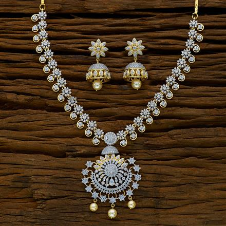 52169 CZ Classic Necklace with 2 tone plating