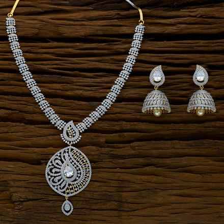 52170 CZ Classic Necklace with 2 tone plating