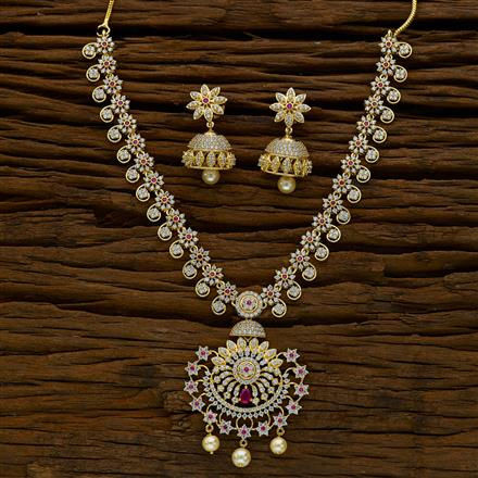 52274 CZ Classic Necklace with gold plating