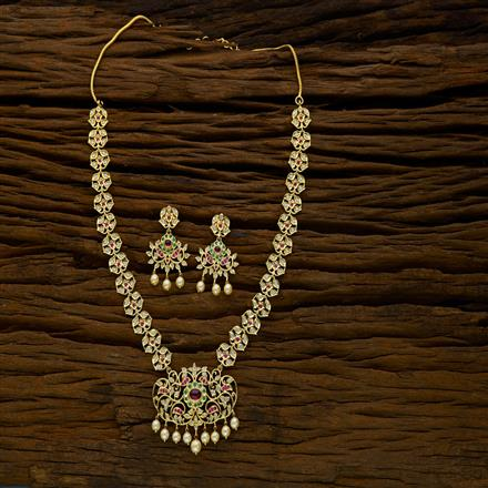 52275 CZ Classic Necklace with gold plating