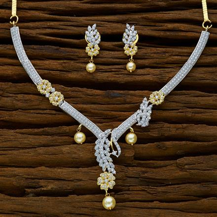 52278 CZ Classic Necklace with 2 tone plating