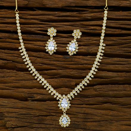 52380 CZ Delicate Necklace with gold plating