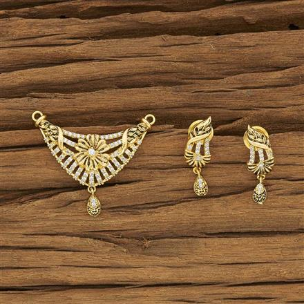 52384 CZ Classic Mangalsutra with gold plating