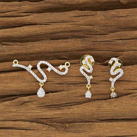 52409 CZ Delicate Mangalsutra with 2 tone plating