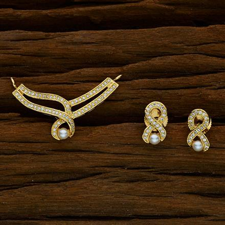 52422 CZ Delicate Mangalsutra with gold plating