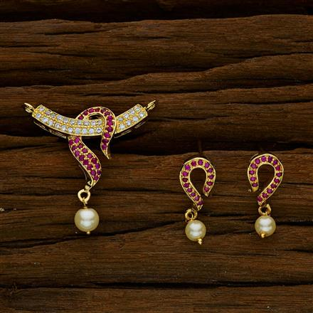 52423 CZ Delicate Mangalsutra with gold plating