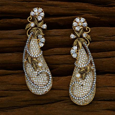 52528 CZ Classic Earring with gold plating