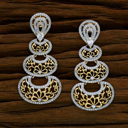 52530 CZ Classic Earring with 2 tone plating