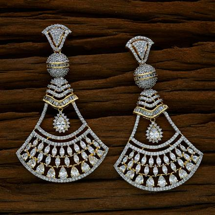 52545 CZ Classic Earring with 2 tone plating