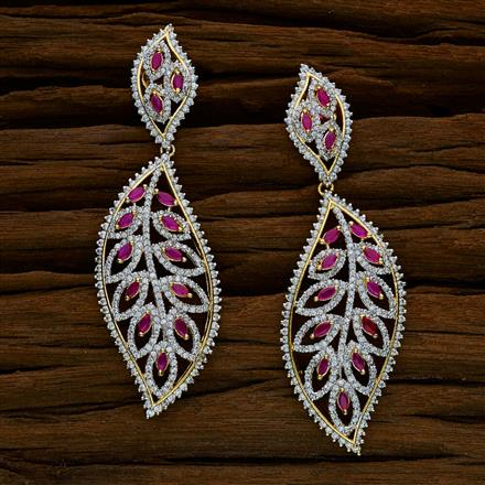 52548 CZ Classic Earring with 2 tone plating