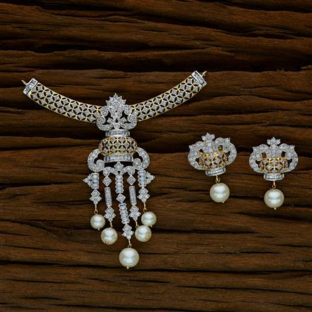 52557 CZ Classic Mangalsutra with 2 tone plating