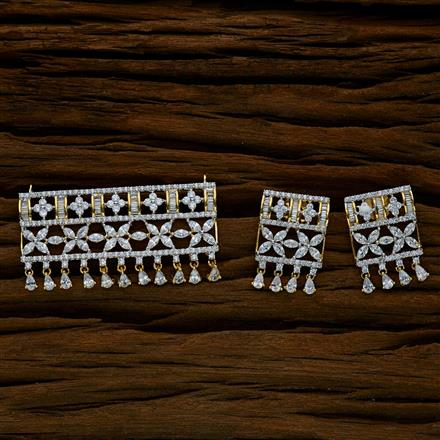52559 CZ Classic Mangalsutra with 2 tone plating