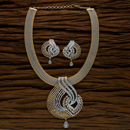 52561 CZ Classic Necklace with 2 tone plating