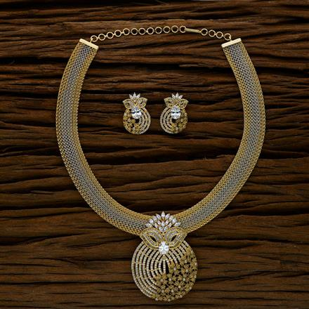 52565 CZ Classic Necklace with gold plating