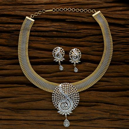 52566 CZ Classic Necklace with 2 tone plating