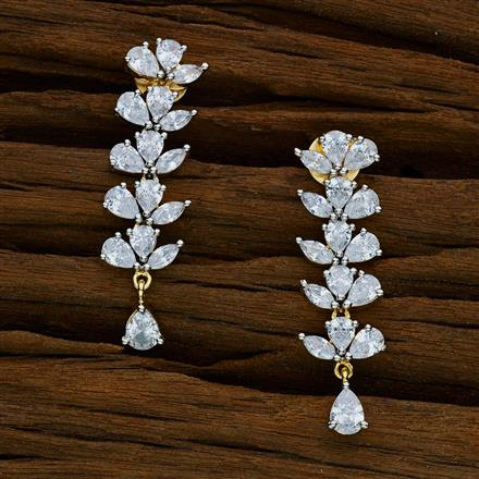 52570 CZ Delicate Earring with 2 tone plating