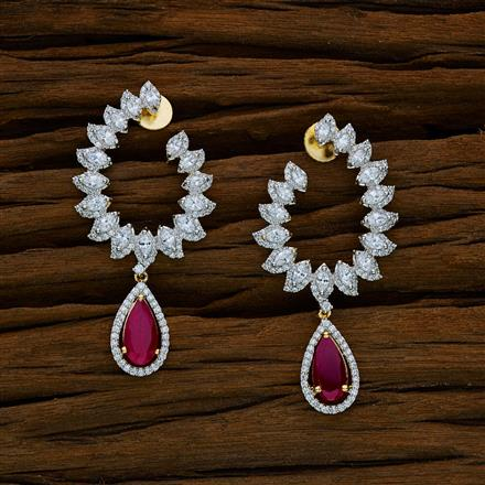 52579 CZ Classic Earring with 2 tone plating